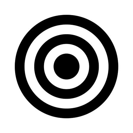 bullseye: Bullseye Ziel Flach Symbol f�r Apps und Websites Illustration