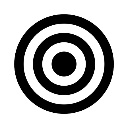Bullseye target flat icon for apps and websites