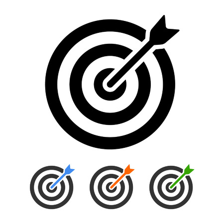 Target bullseye with arrow flat icon for apps and websites