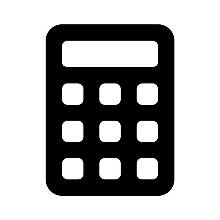 subtract: Calculator flat icon for apps and websites