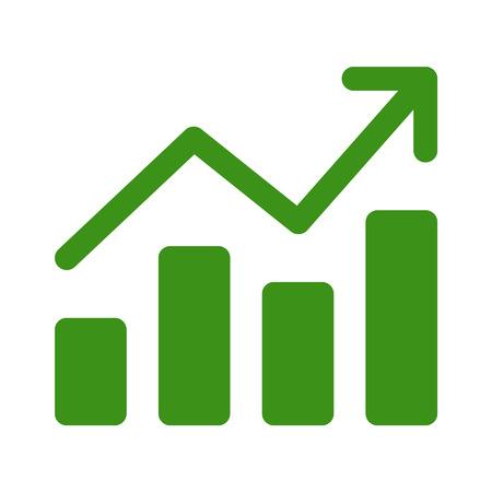 Croissance tableau graphique icône de l'art plat pour les applications et sites Web Banque d'images - 42560332