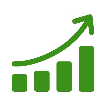 Growth chart graph Flach-Art-Symbol für Apps und Websites Standard-Bild - 42560388