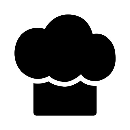 chef s hat: Chef cooking hat flat icon for apps and websites