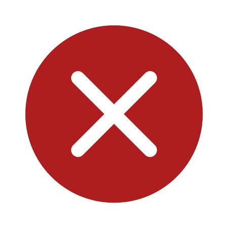Cancelar estrecha icono plana para aplicaciones y sitios web Foto de archivo - 42560455