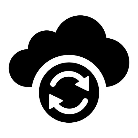 sync: Cloud sync refresh flat icon for apps and websites