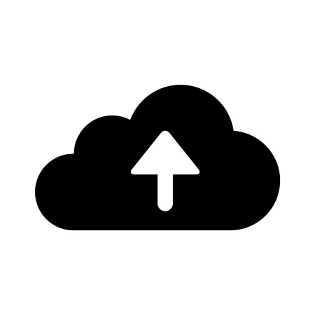Upload to cloud storage flat icon for apps and websites