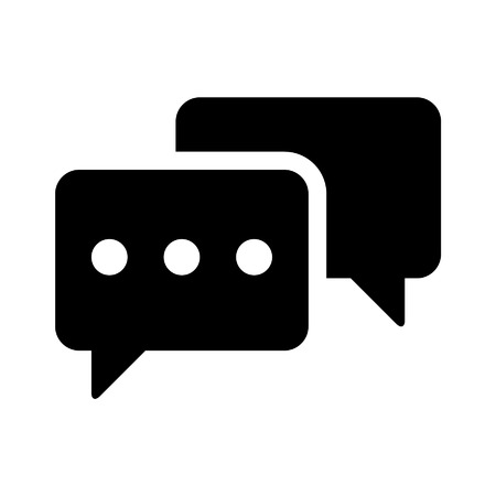 discussion forum: Chat  messaging flat icon for apps and websites