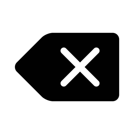 backspace: Delete backspace key flat icon for apps and websites