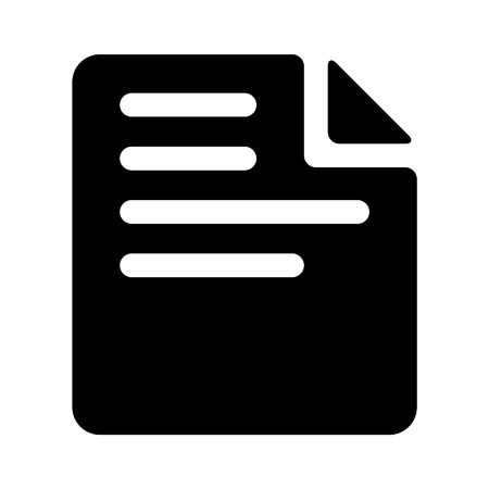 Paper document flat icon for apps and websites