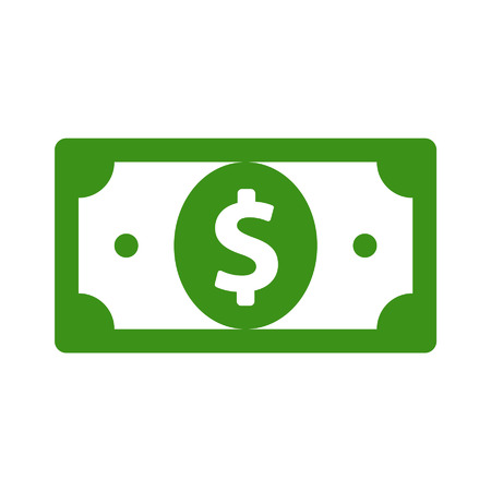 factura: Icono plana moneda dólar estadounidense para las aplicaciones y sitios web