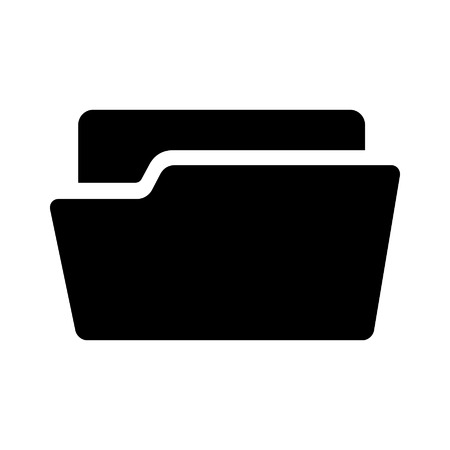 Folder flat icon for apps and websites