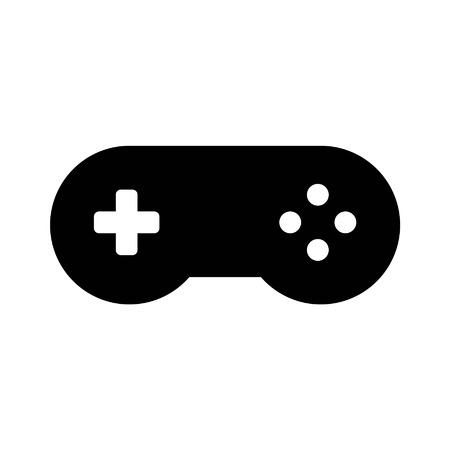 joypad: Videogame controller gamepad flat icon for apps and websites Illustration