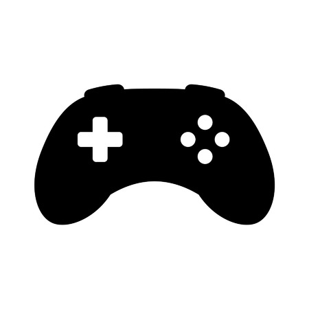videogame: Videogame controller gamepad flat icon for apps and websites Illustration