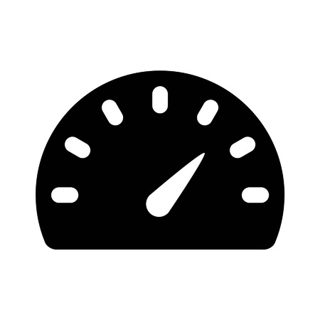 Speedometer gauge flat icon for apps and websites