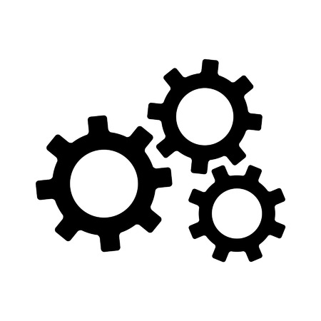gears and cogs: Settings gears cogs flat icon for apps and websites