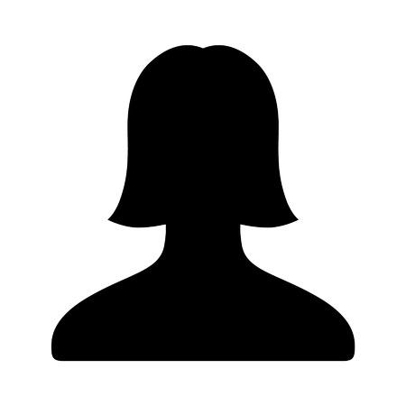 アプリと web サイトの女性ユーザー アカウント フラット アイコン