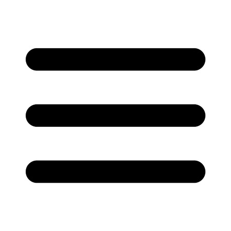 navigation pictogram: Hamburger menu bar line art icon for apps and websites Illustration