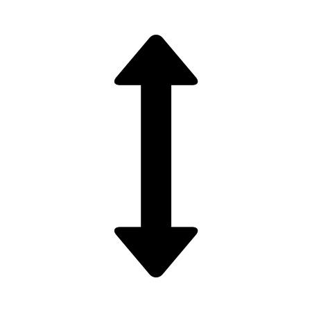directional arrow: Move up down directional arrow line art icon for apps and websites Illustration