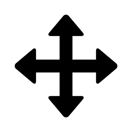 directional arrow: Move directional arrow line art icon for apps and websites