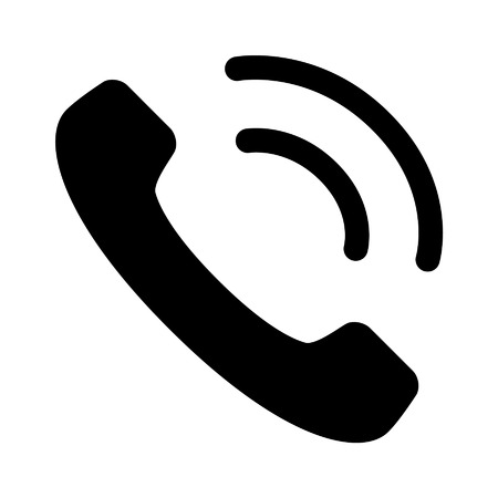 Phone ringing flat icon for apps and websites