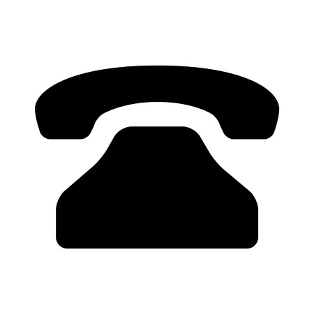 telephone icon: Telephone call flat icon for apps and websites