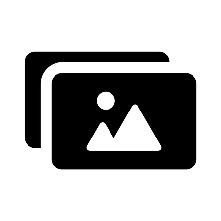 Photo album flat icon for apps and websites
