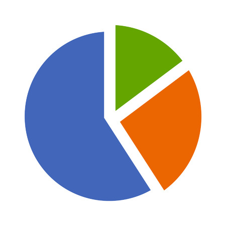 Pie chart flat icon for apps and websites