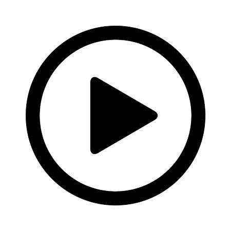 Juega icono plana de vídeo para aplicaciones y sitios web Ilustración de vector