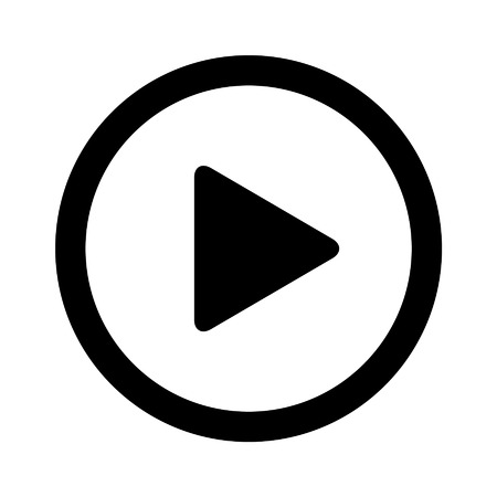 Play video flat icon for apps and websites
