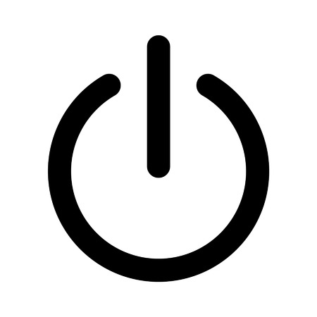 Power on off line art icon for apps and websites