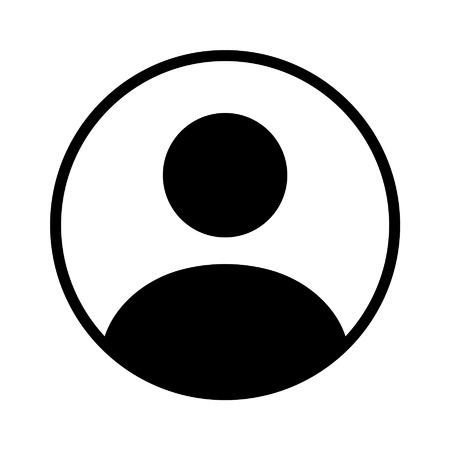 Gebruikersaccount cirkel flat pictogram voor apps en websites Stock Illustratie