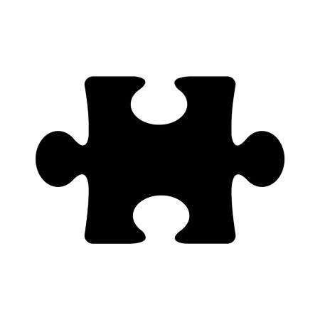 Puzzle piece flat icon for apps and websites
