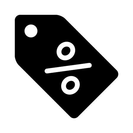 percentage sign: Discount sales tag with percentage sign flat icon for apps and websites Illustration