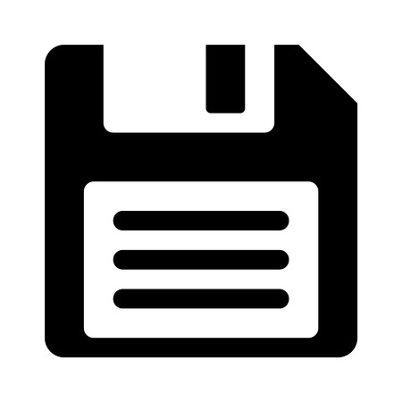 Floppy disk flat icon for apps and websites 向量圖像