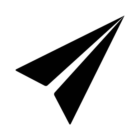 airplanes: Mail paper airplane flat icon for apps and websites Illustration