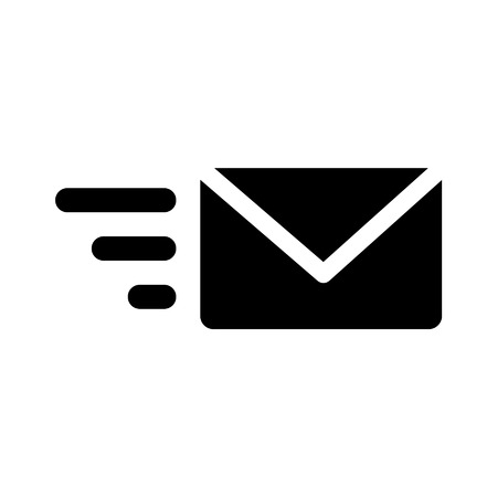 Send email flat icon for apps and websites Stock Illustratie