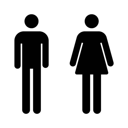 Male and female sign flat icon for apps and websites