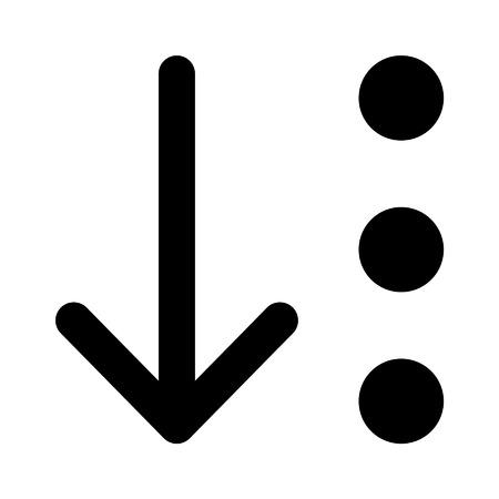 Sort item list flat icon for apps and websites Ilustração