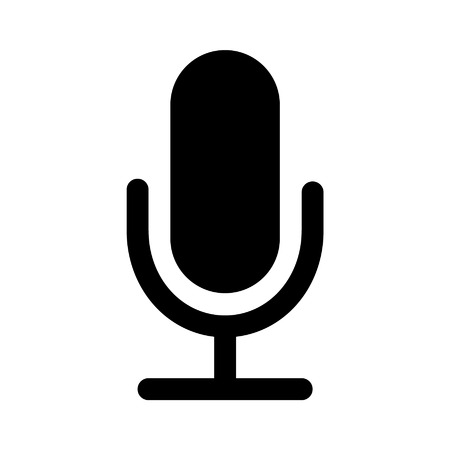vector art: Microphone speaker flat icon for apps and websites