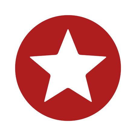 Ster in cirkel flat icon for apps en websites Stock Illustratie
