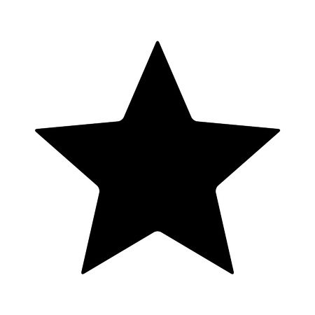 Star rating flat icon for apps and websites