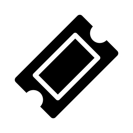 Movie ticket flat icon for apps and websites Stock Illustratie