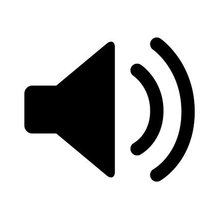 speaker icon: Speaker volume on line art icon for apps and websites