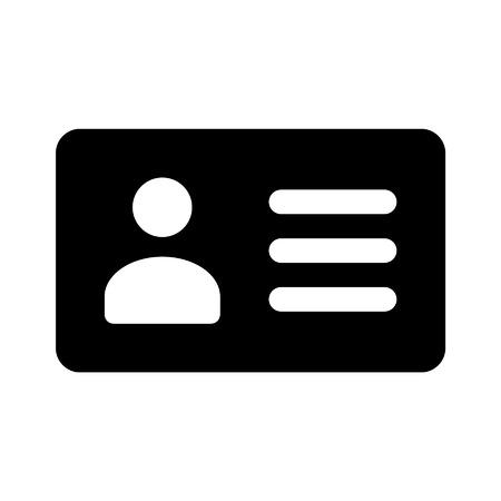 chauffeurs: Permis de carte d'identit� du conducteur ic�ne plat