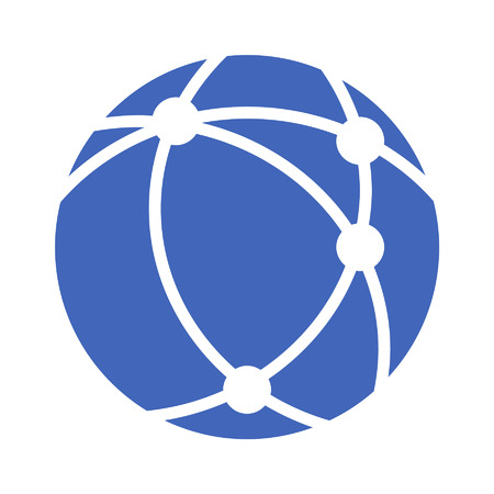 Internet network flat icon for apps and websites  イラスト・ベクター素材