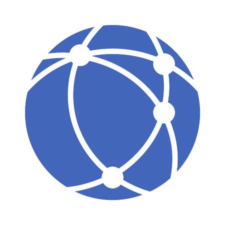 Réseau Internet icône plat pour les applications et sites Web Banque d'images - 42613929