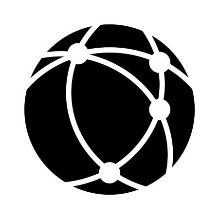 Internet network flat icon for apps and websites Illustration
