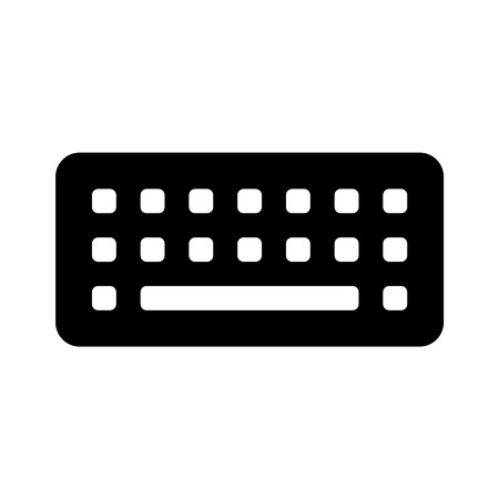 data entry: Virtual keyboard flat icon for apps