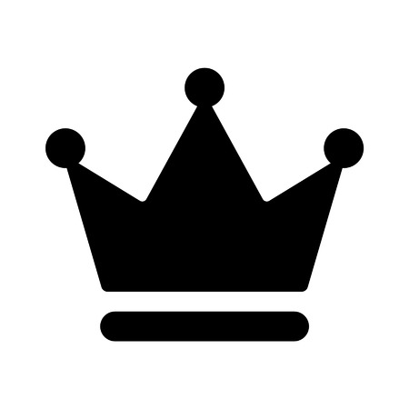 mayor: Crown of the king flat icon for apps and websites Illustration