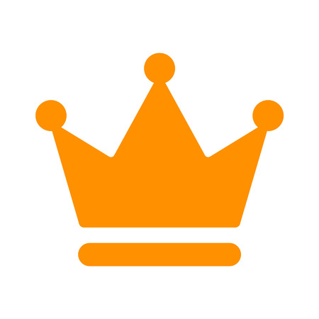 Crown of the king flat icon for apps and websites Illustration